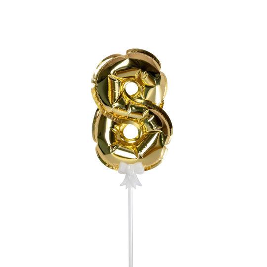 Picture of 金色數字氣球插件 - 8